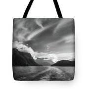 Dramatic Clouds And Alpine Scenery At Lake Manapouri  Tote Bag