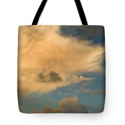 Dramatic Clouds In The Sky Resting Tote Bag