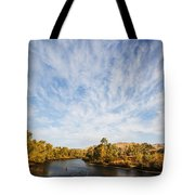 Dramatic Clouds Over Boise River In Boise Idaho Tote Bag