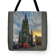Dramatic Edinburgh Sunset At The Hub In Scotland  Tote Bag