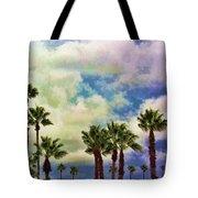 Dramatic Palms Tote Bag