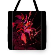 Dramatic Red Flowers Tote Bag