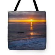 Dramatic Ocean Reflection Of Color Tote Bag