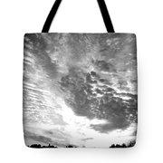 Dramatic Sky Bw Tote Bag