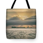 Dramatic Sky Over Hurst Castle Tote Bag