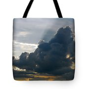 Dramatic Sky With Crepuscular Rays Tote Bag