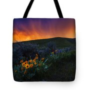 Dramatic Spring Sunset In Boise Idaho Usa Tote Bag
