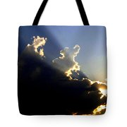 Dramatic Sunburst Tote Bag
