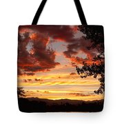 Dramatic Sunset Reflection Tote Bag