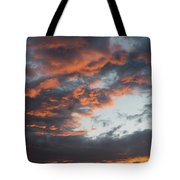 Dramatic Sunset Sky With Orange Cloud Colors Tote Bag