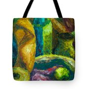 Drapes And Shapes Tote Bag by Angelique Bowman