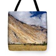 Drass Village Agriculture Kargil Ladakh Jammu And Kashmir India Tote Bag