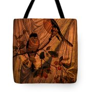 Draw Back The Curtain Tote Bag