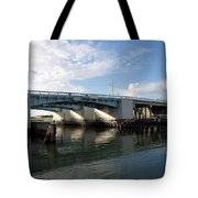 Drawbridge At Port Canaveral In Florida Tote Bag