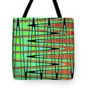 Drawing Abstract #5984wtct Tote Bag