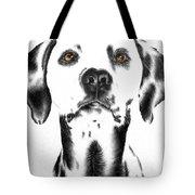 Drawing Of A Dalmatian Dog Tote Bag