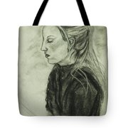 Drawing Of An Artist Tote Bag by Angelique Bowman