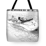 Drawing The Boat Tote Bag