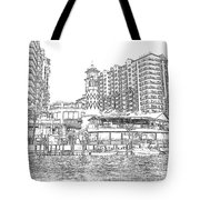 Drawing The Harbor Tote Bag