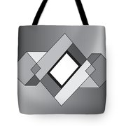 Drawn2shapes10bnw Tote Bag