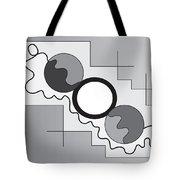 Drawn2shapes3bnw Tote Bag