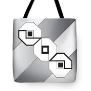Drawn2shapes4bnw Tote Bag