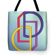 Drawn2shapes5clr Tote Bag