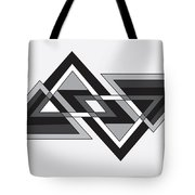 Drawn2shapes6bnw Tote Bag