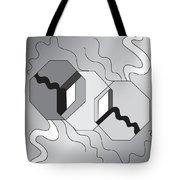 Drawn2shapes7bnw Tote Bag