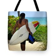 Dreadlocks Surfer Dude Tote Bag