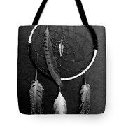 Dream Catcher Black White Tote Bag