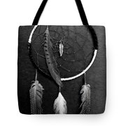 Dream Catcher Black White Tote Bag