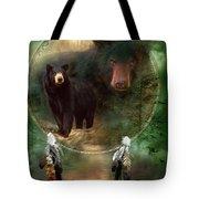 Dream Catcher - Spirit Of The Black Bear Tote Bag