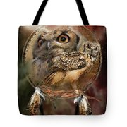 Dream Catcher - Spirit Of The Owl Tote Bag