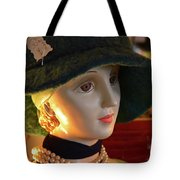 Dream Girl With Hat And Pearls Tote Bag