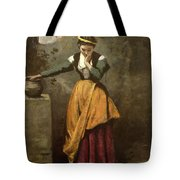 Dreamer At The Fountain Tote Bag