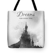 Dreaming Black And White Tote Bag