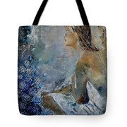 Dreaming Young Girl Tote Bag