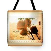 Dreams In Roses - Vintage - Verse Tote Bag