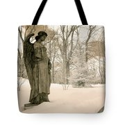 Dreamy Angel Monument Surreal Sepia Nature Tote Bag