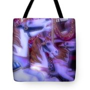 Dreamy Carrousel  Horses Tote Bag