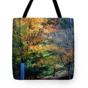 Dreamy Fall Scene Tote Bag