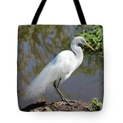 Dreamy Great Egret Tote Bag
