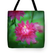 Dreamy Hot Pink Columbine Squared Tote Bag