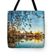 Dreamy Jefferson And Flowers Tote Bag