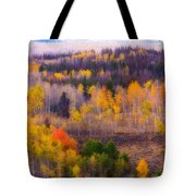 Dreamy Rocky Mountain Autumn View Tote Bag