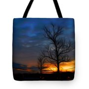 Dreamy Sunset Tote Bag by Ella Char