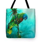 Drenched - St. Lucia Parrot Tote Bag