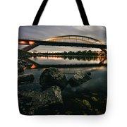 Dresden Waldschloesschenbridge Sunset Tote Bag