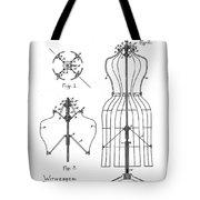 Dress Form Patent 1891  Tote Bag